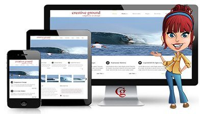Creative Ground. Responsive mobile website.