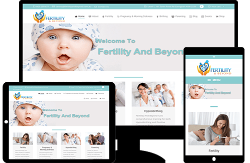 Fertility and Beyond, website designed by Creative Ground.