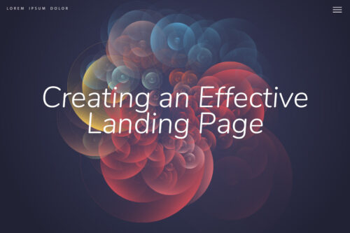 Creating An Effective Landing Page